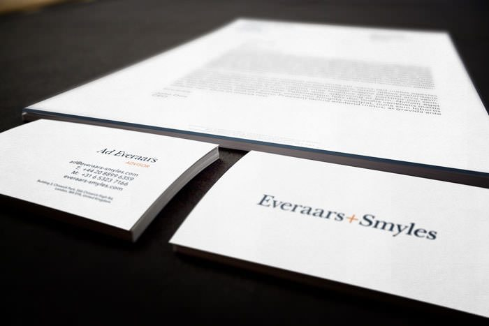 Everaars Smyles Corporate Stationery Design