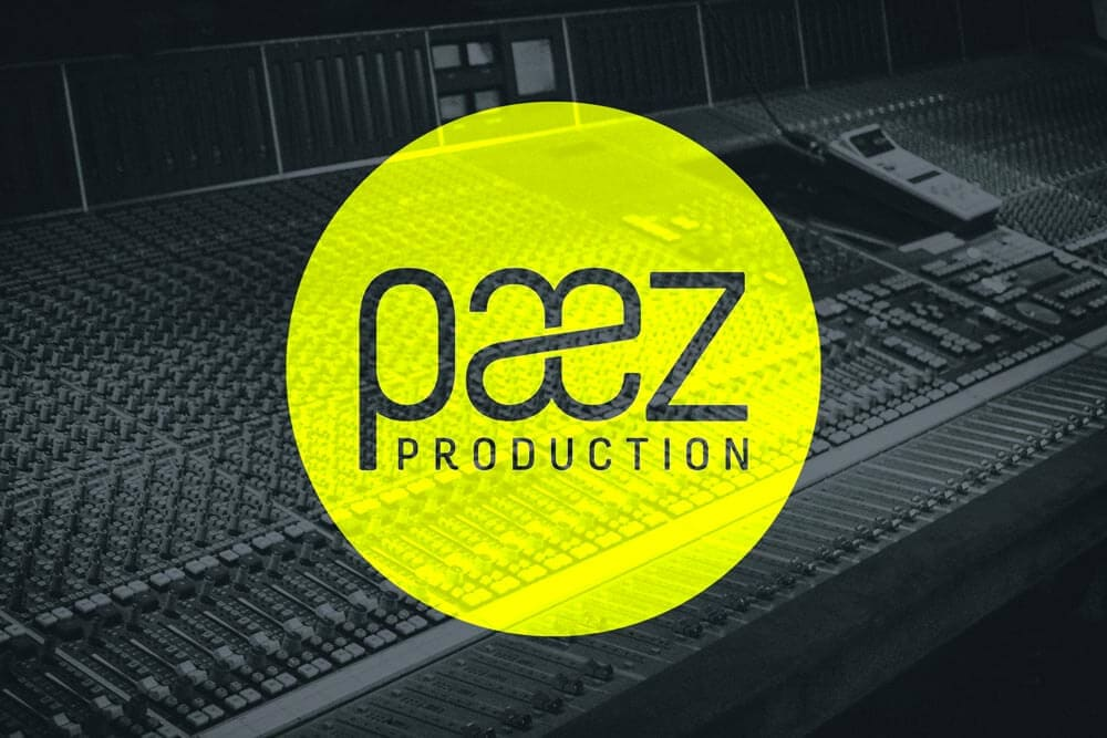 Music Logo Design for Paez Productions by Inkbot Design