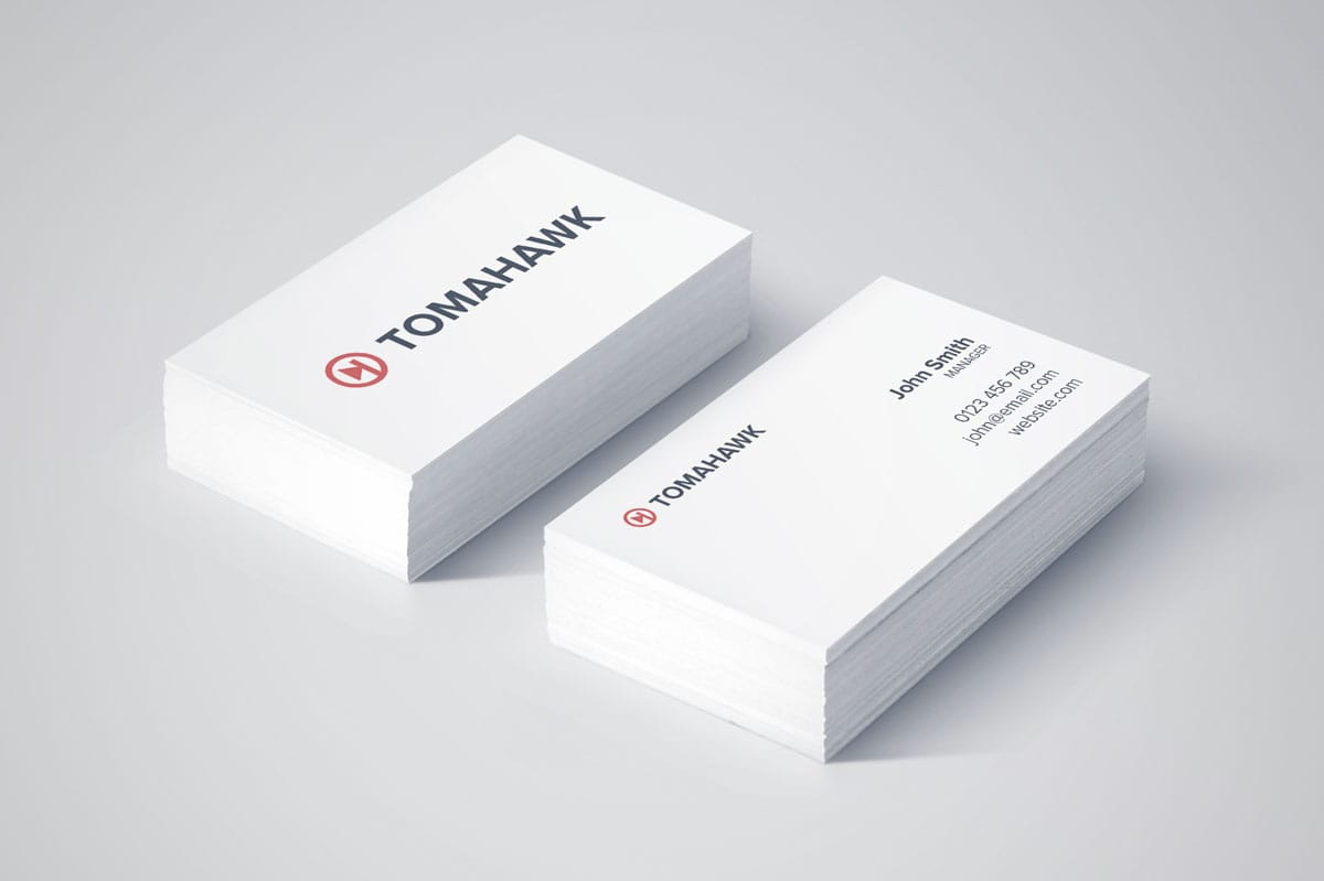 tomahawk music player business card design services