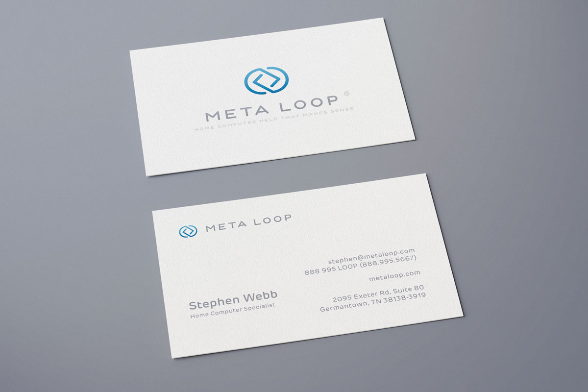 Computer Company Business Card Design