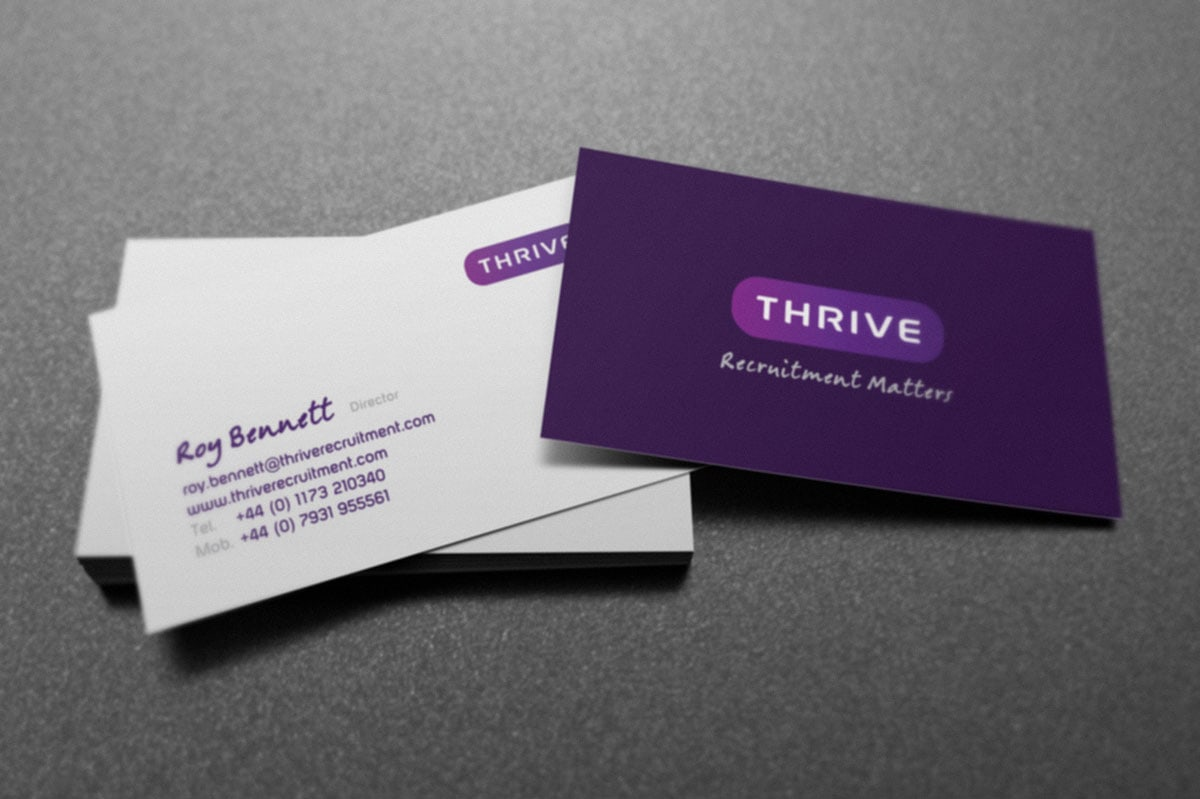 7 creative business card ideas for design inspiration thrive recruitment business card design colourmoves
