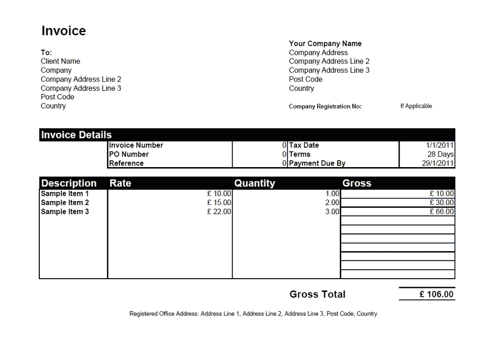 Simple Invoice Template Word - Example invoice template