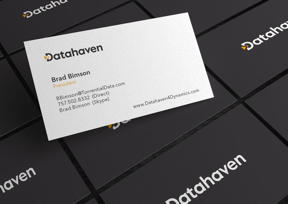 Corporate Business Card Design for Datahaven