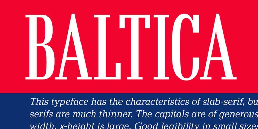 Baltica Font For Logo Design