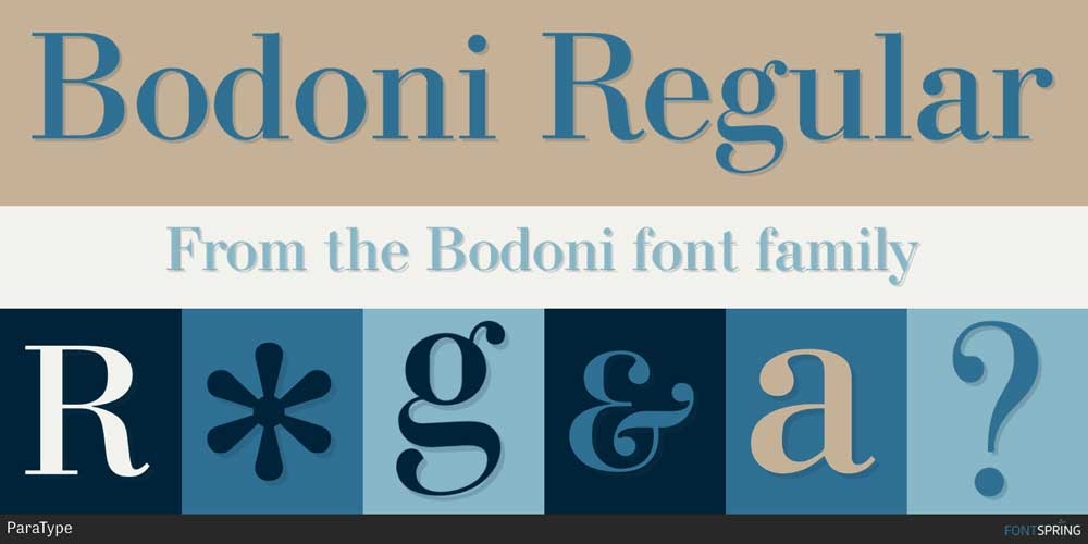 Bodoni Font Download