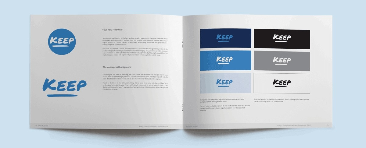 Keep Brand Guidelines Design