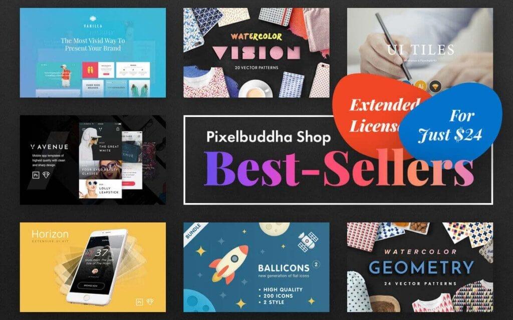 Pixel Buddha Free Design Resources