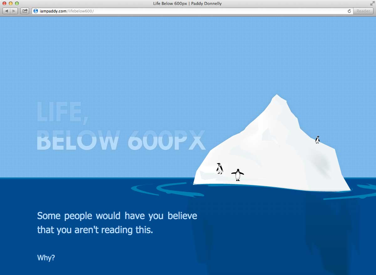 minimalist web design fold