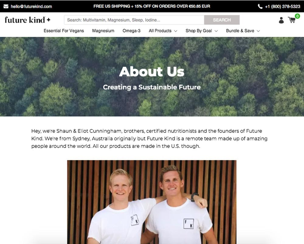 Example Of A Good About Us Page Branding