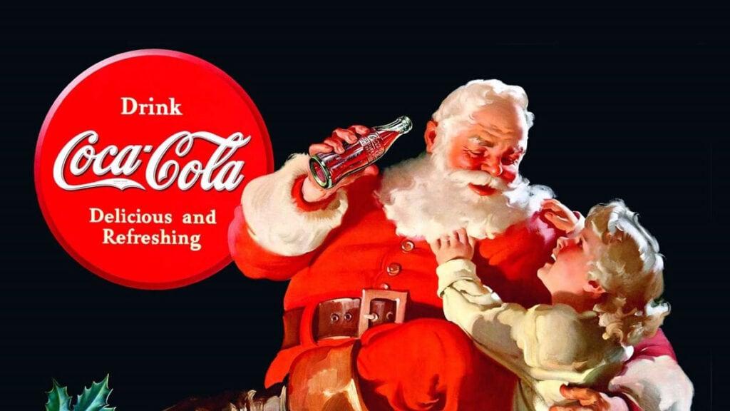 Coca Cola Logo Design Santa