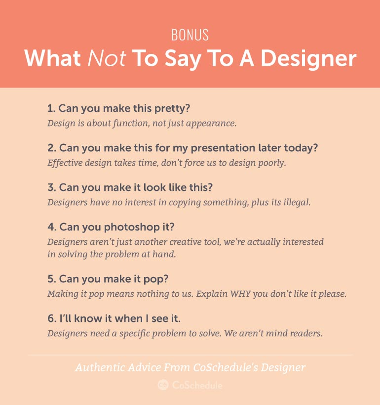 Things Not To Say To A Graphic Designer
