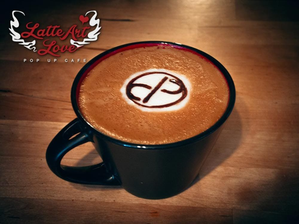 Company Logo In Coffee Art