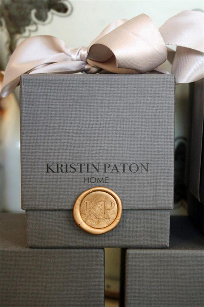 Company Logo On A Wax Seal Packaging