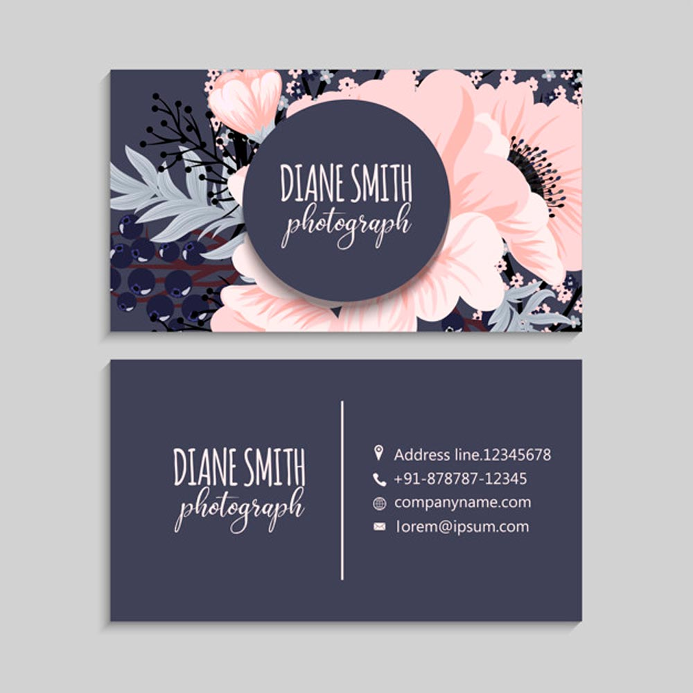 Company Logo Printed On Business Cards