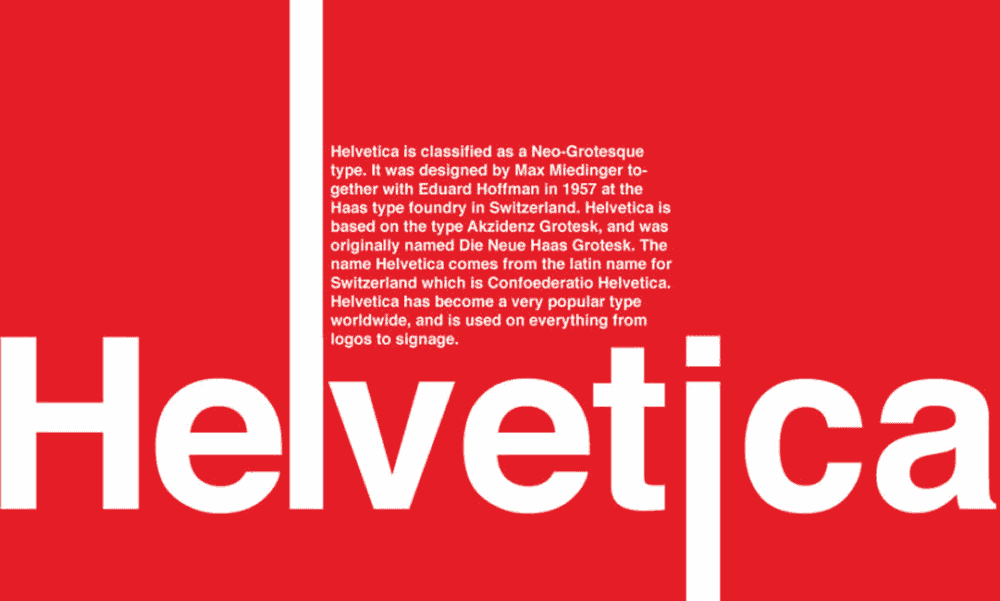 minimal typography design