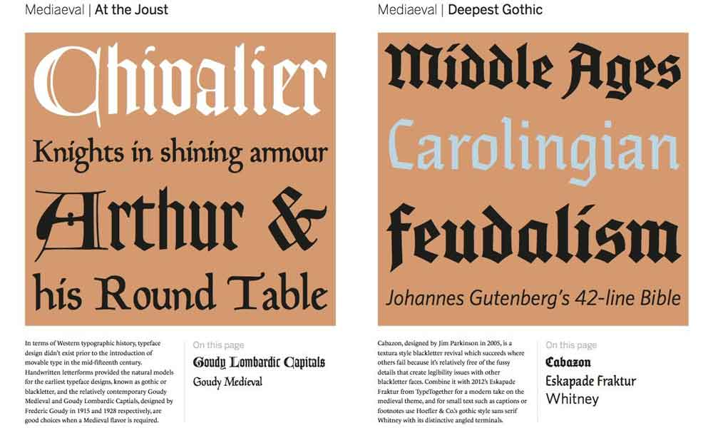 Type Team Perfect Typeface Combinations