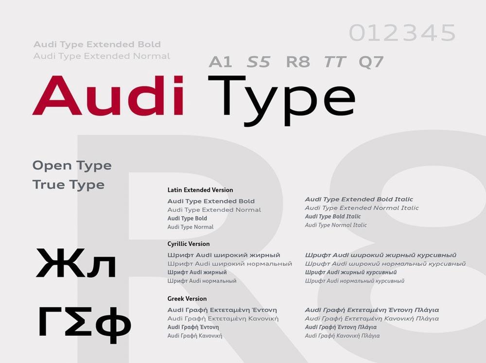 Audi Font Design