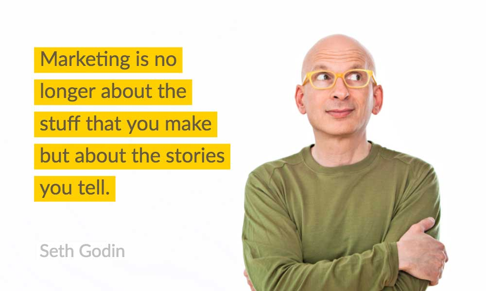 Brand Storytelling Quote Seth Godin