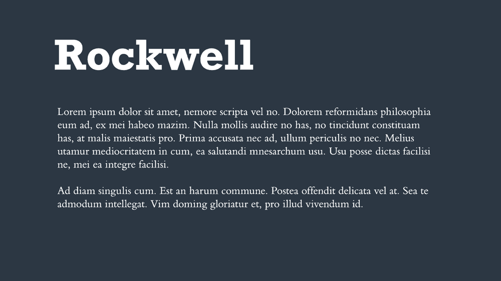 Rockwell Bembo Font Combination