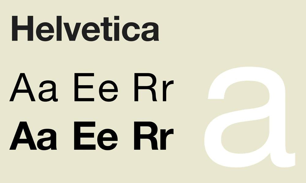 Top 10 Fonts Helvetica