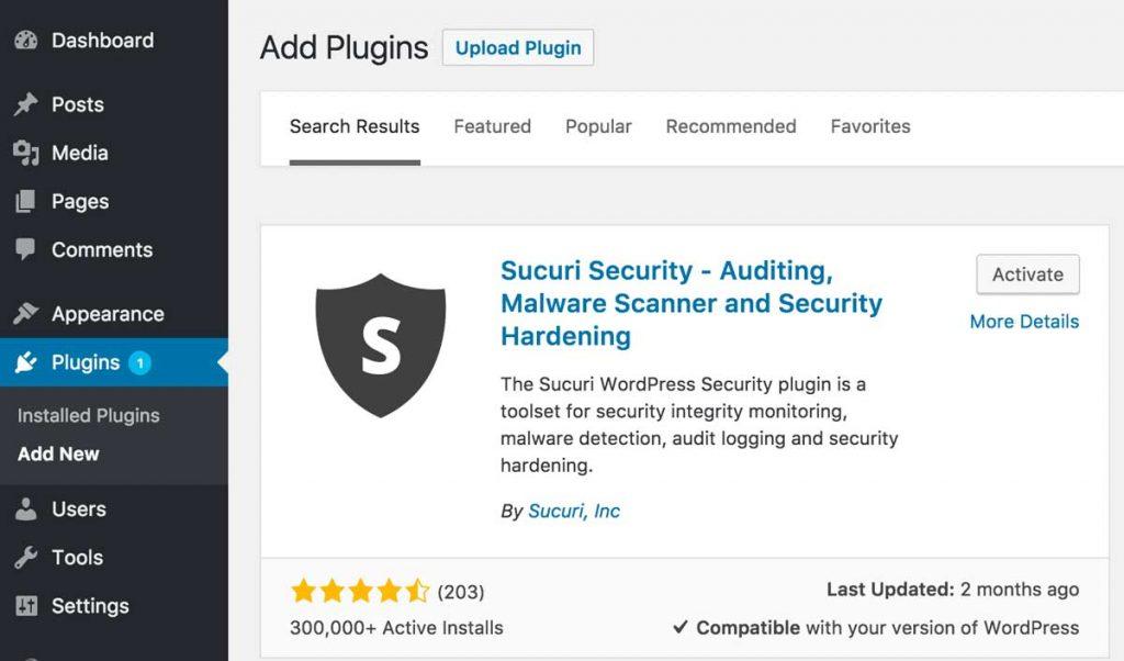Sucuri Security Plugin For Wordpress