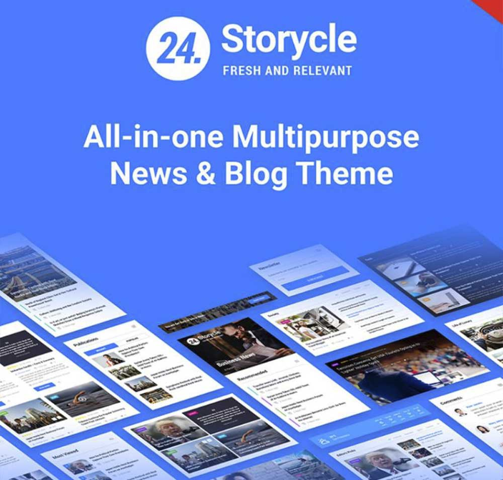 24. Storycle WordPress Theme