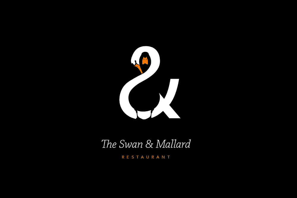 Swan Mallard Restaurant Logo Design