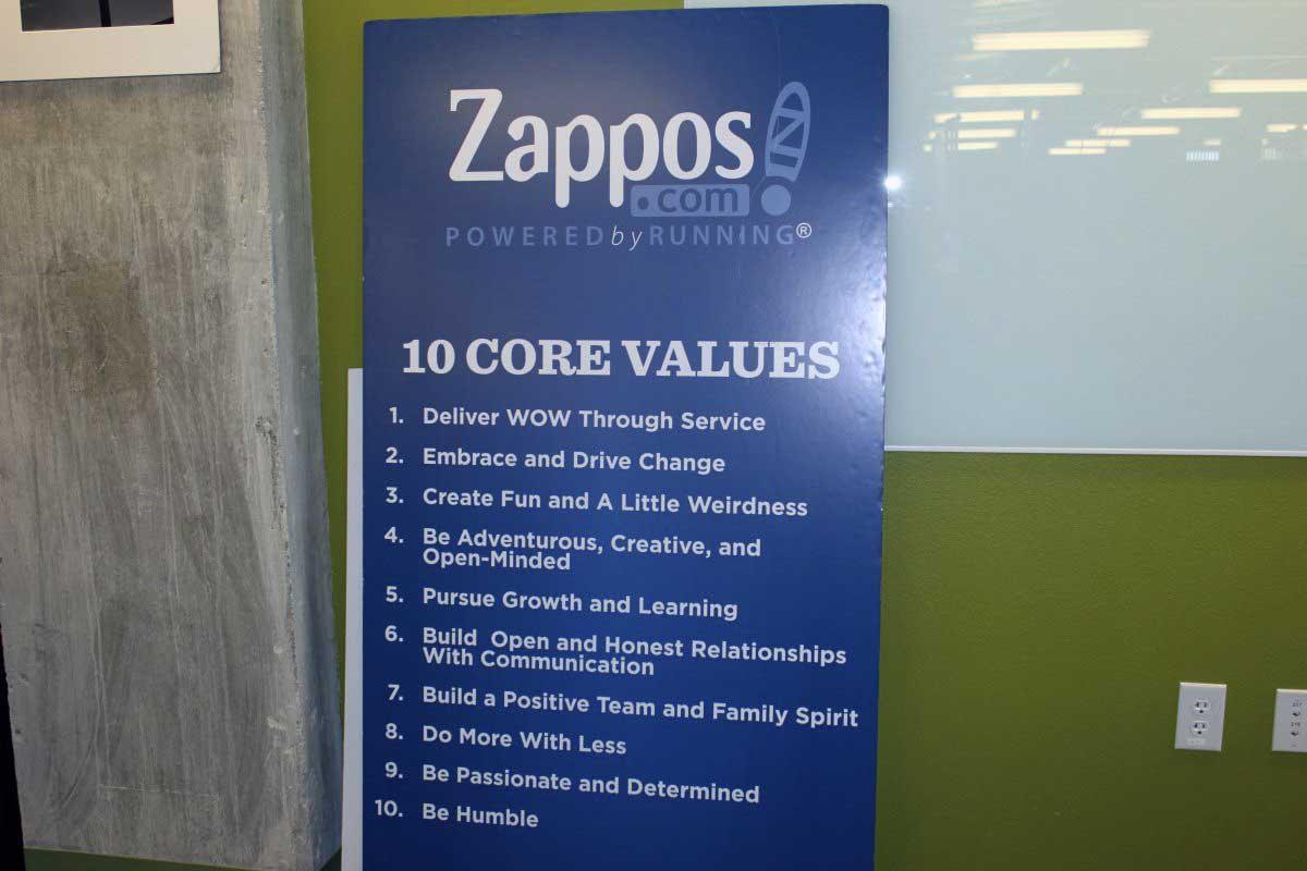 zappos brand values