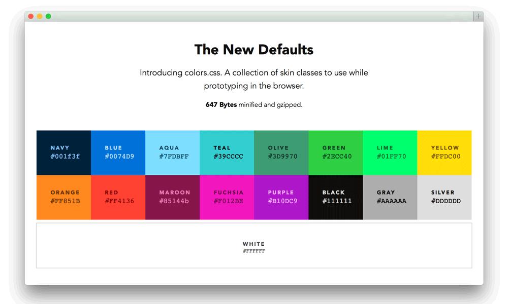 colour web design elements