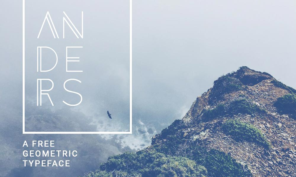 anders free graphic design fonts