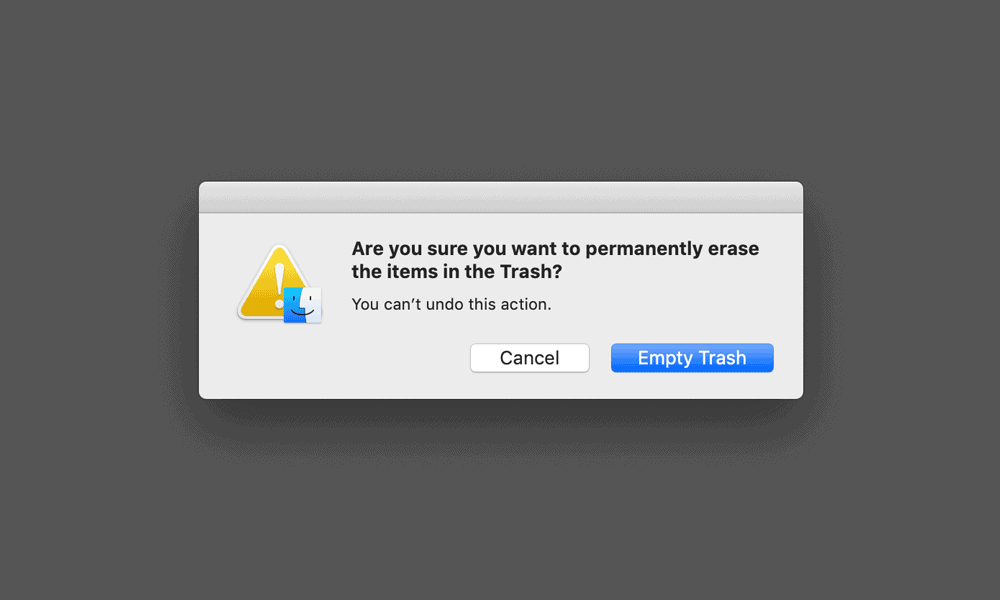 empty trash mac