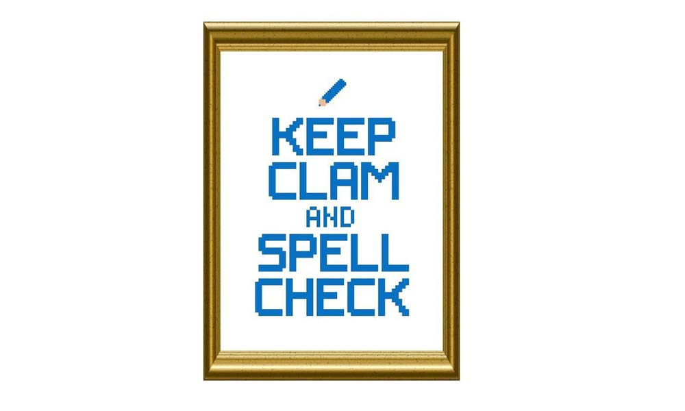 keep clam spell check
