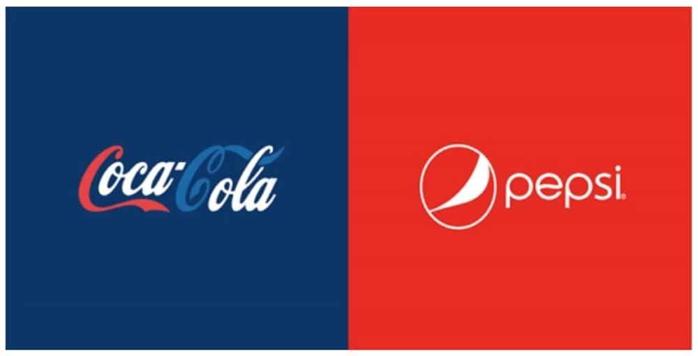 coca cola pepsi colours