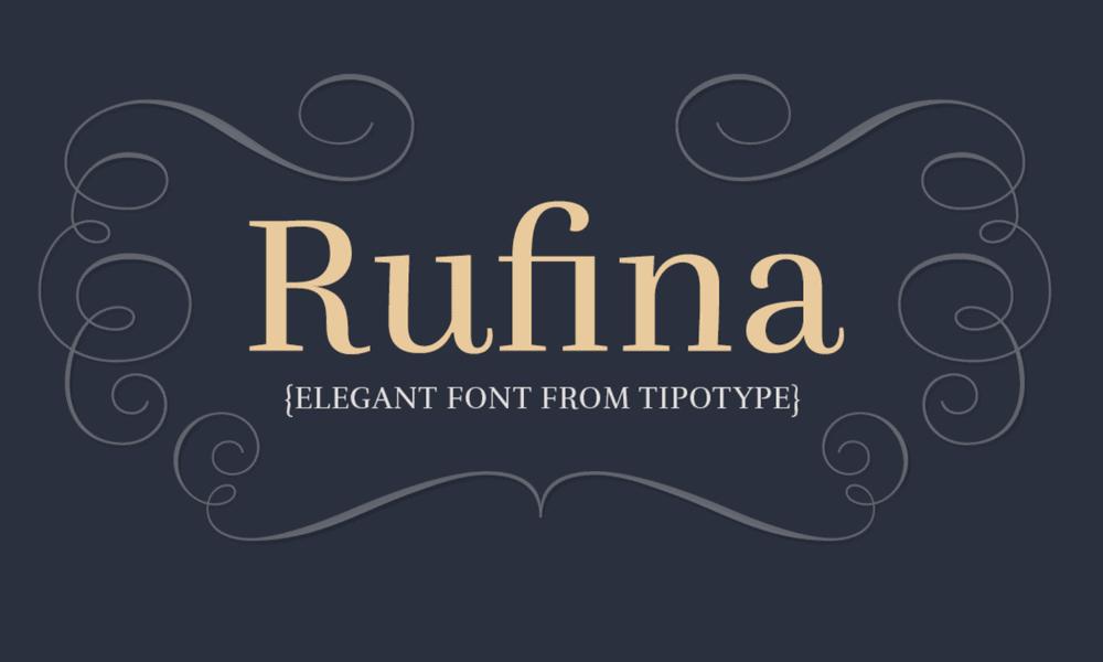 Rufina Font Logo Design