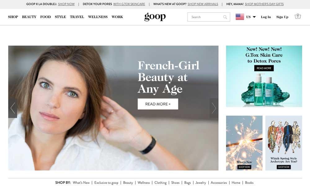 Goop Web Design