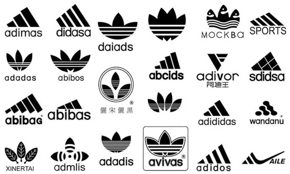 Fake Adidas Logos