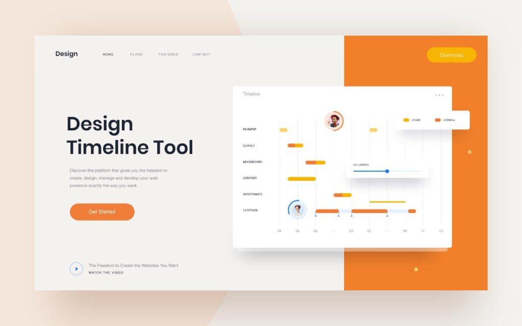Web Design Timeline Examples