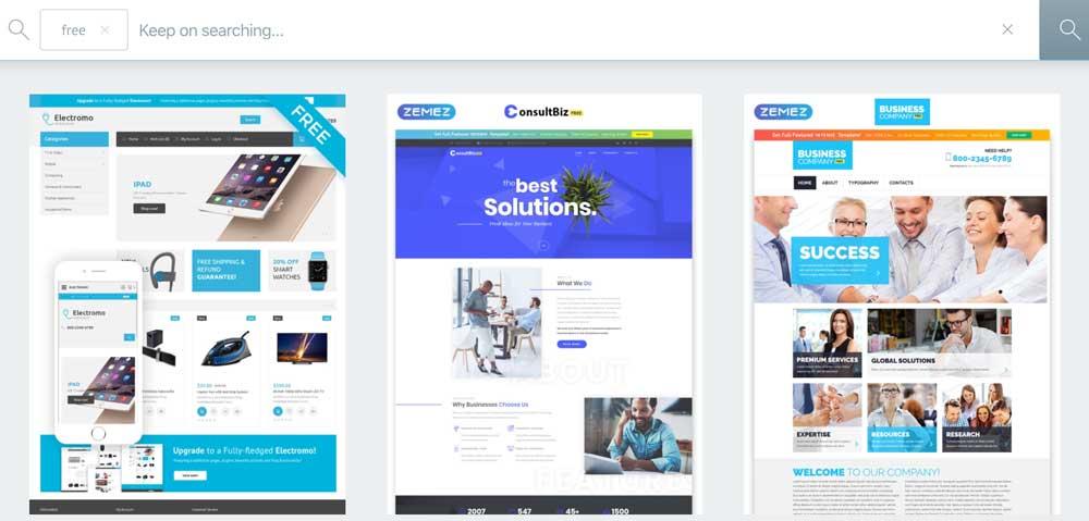 Free Web Design Templates