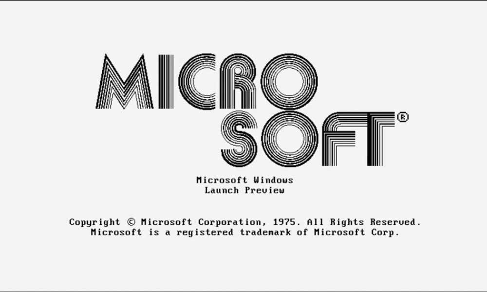 Original Microsoft Logo 1975