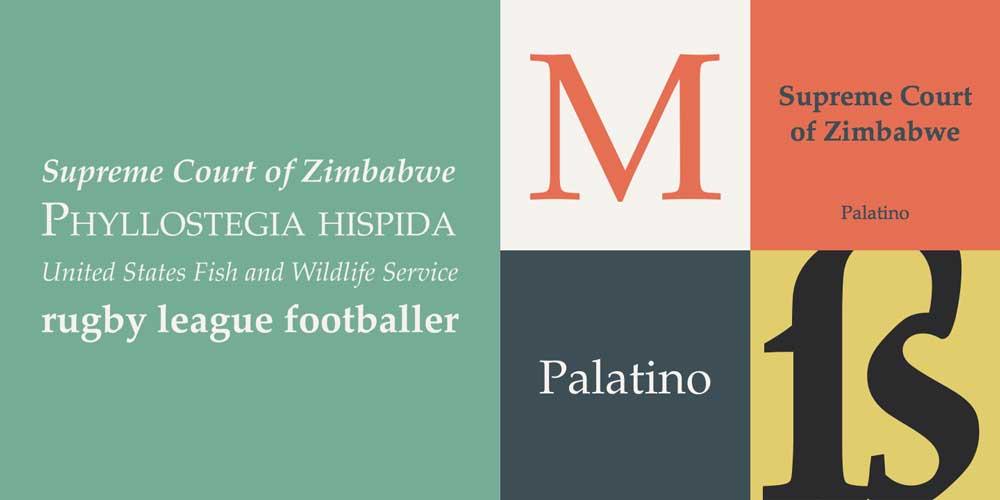 Palatino Serif Font Examples
