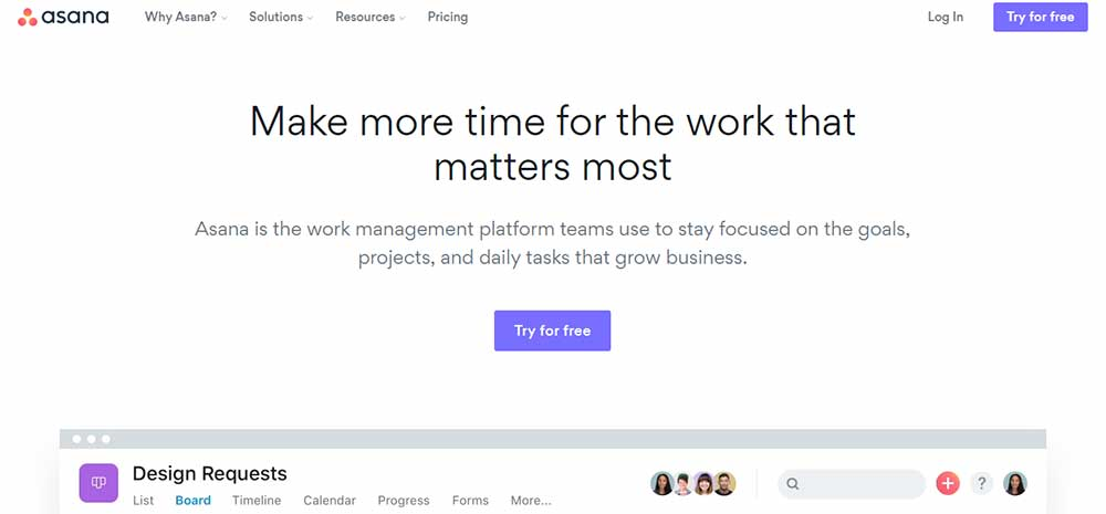 Asana Tool For Designers