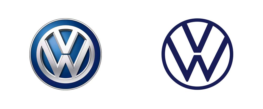 New Volkswagen Logo Rebrand