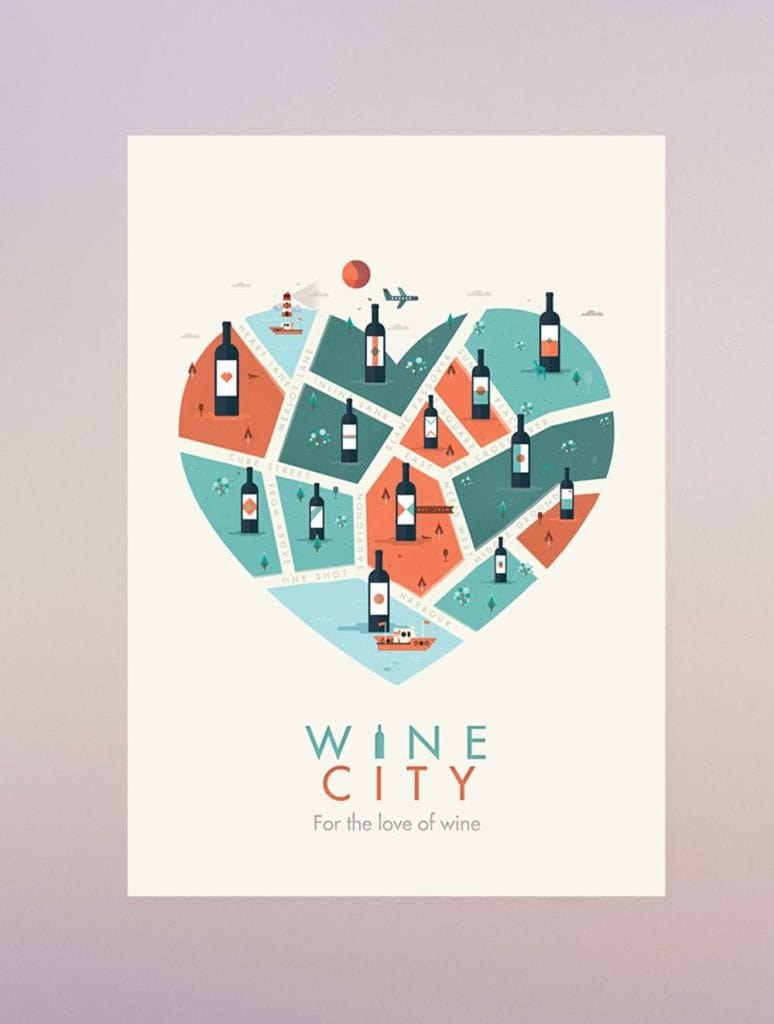 Wine Poster Design Example