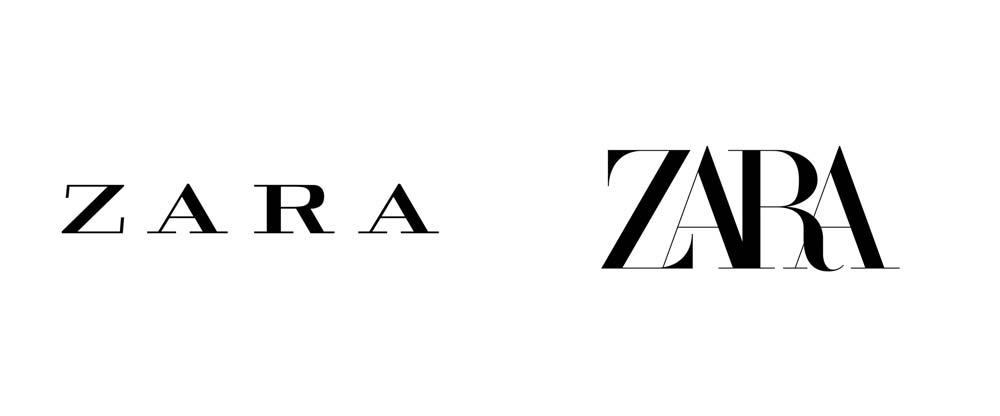Zara Brand Logo Redesigns