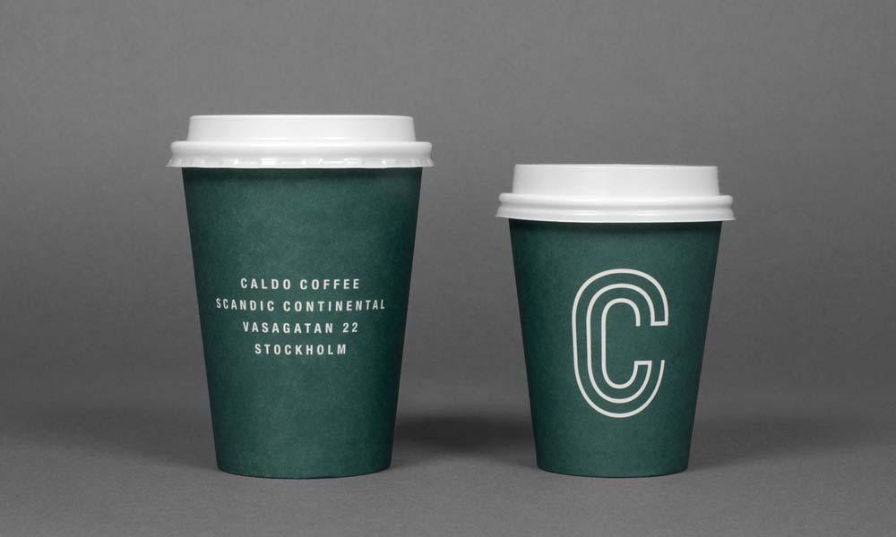 Caldo Coffee Branding Coffee Cups