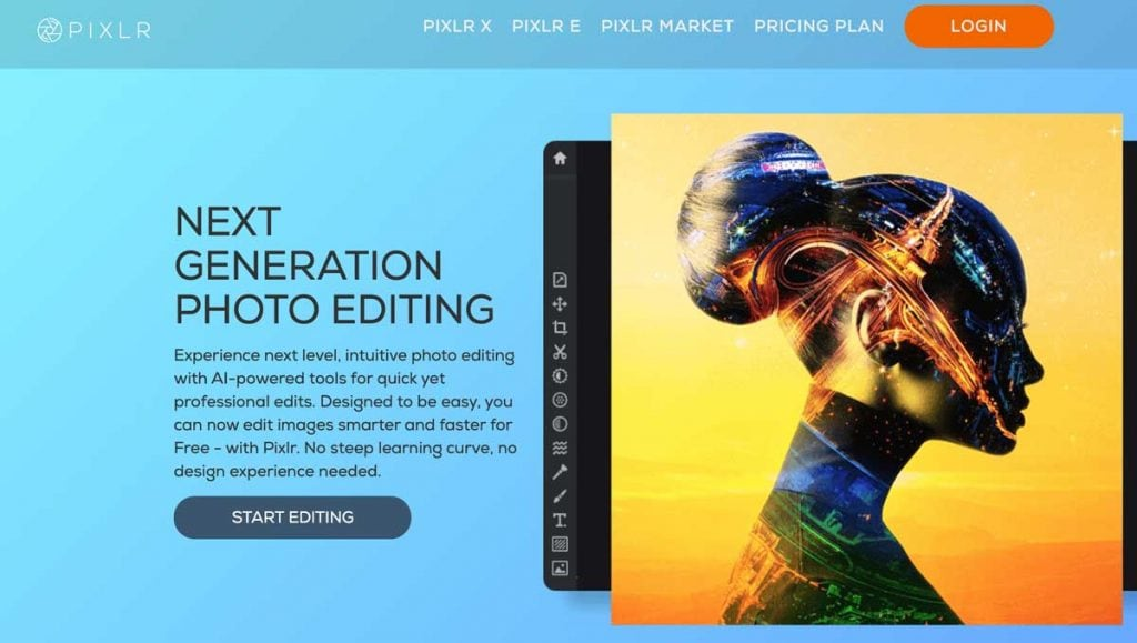 Pixlr Photo Editing Tool Online