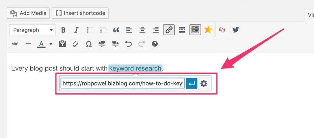 Wordpress Tip Internal Links
