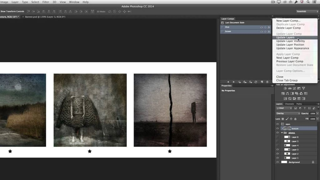 Photoshop Workflow Tips Layer Comps