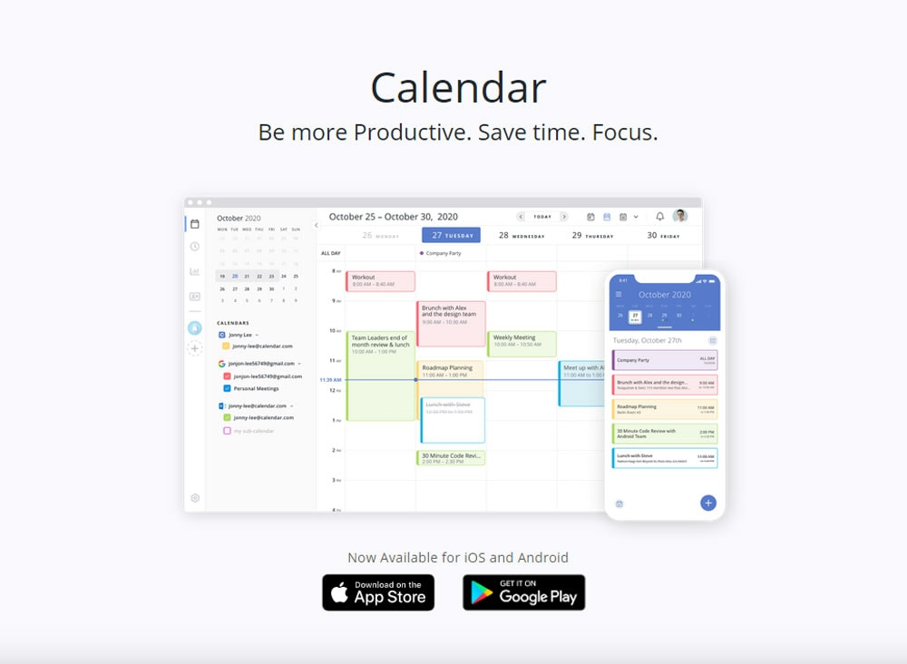 Calendar Online Meeting Scheduling Shared Calendar App