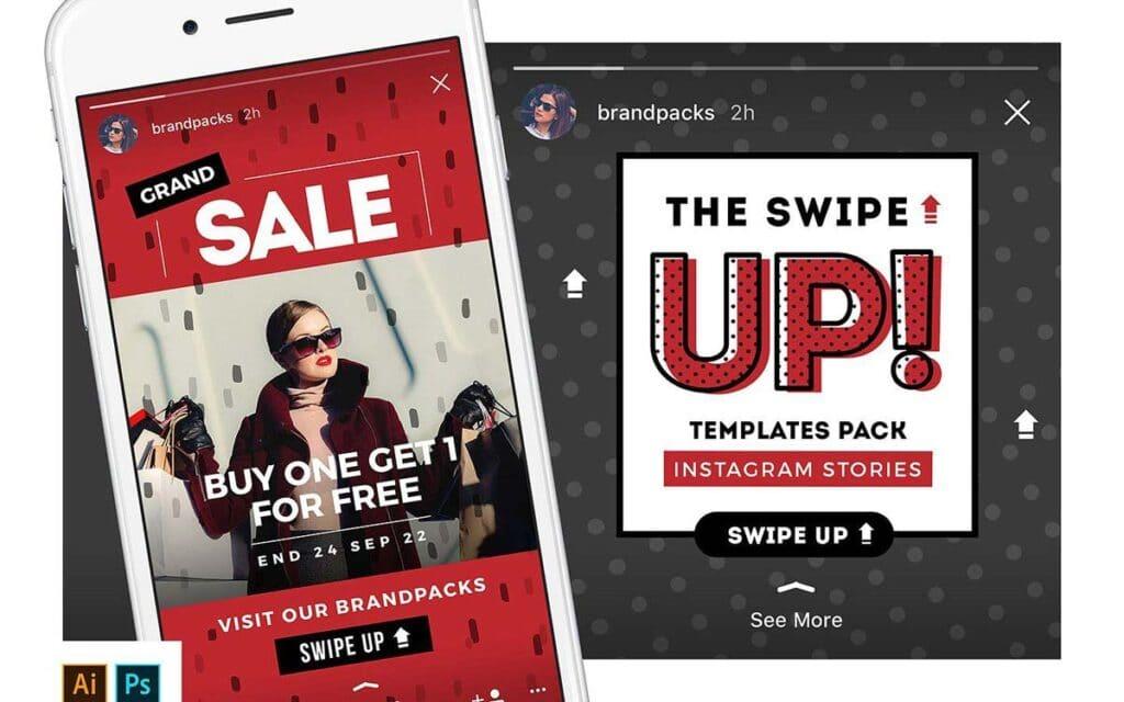 Instagram Stories Template Pack Swipe Up